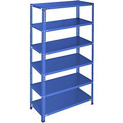 Estantería azul 6 bandejas 90x60x200 cm