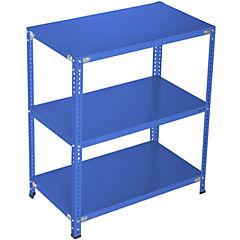Estantería azul 3 bandejas 90x50x100 cm