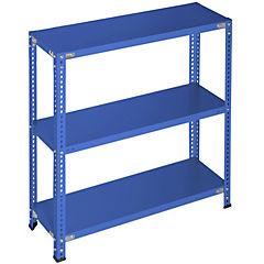 Estantería azul 3 bandejas 90x40x100 cm