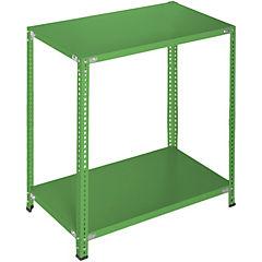 Estantería verde 2 bandejas 90x60x100 cm