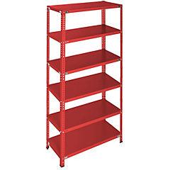 Estantería rojo 6 bandejas 90x50x200 cm