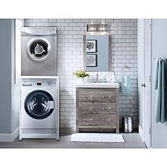 Estantería metálica para lavadora y secadora carga frontal 1 repisas 72x96 cm