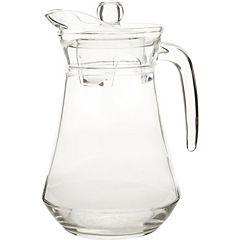 Jarro acrílico  transparente con tapa 1,3 litros