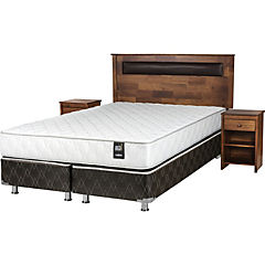 Box Spring 2 Plazas Base Dividida + Muebles Ferrara