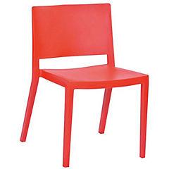 Silla 51x52x75 cm roja
