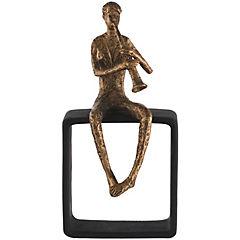 Figura poliresina flautista hombre 25 cm