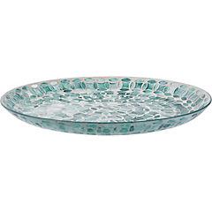 Plato vidrio mosaico 36 cm