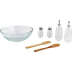 Set 7 piezas ensalada vidrio