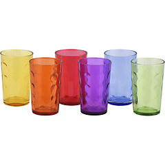 Set 6 vasos vidrio colores