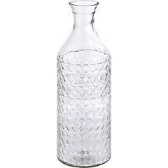 Botella vidrio 30 cm transparente