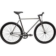 Bicicleta urbana 28 cromado negro L