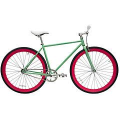 Bicicleta urbana 28 turquesa vintage y fucsia M