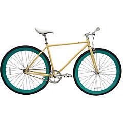Bicicleta urbana 28 crema y verde menta S