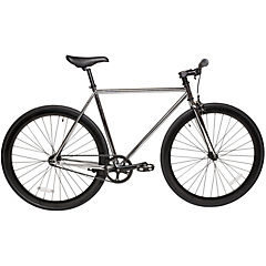 Bicicleta urbana 28 cromado negro M