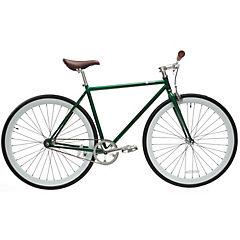 Bicicleta urbana 28 verde y blanco XL