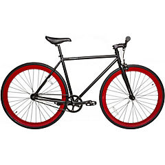 Bicicleta urbana aro 28 negro - rojo XL
