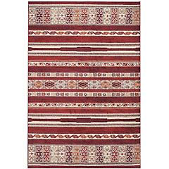 Alfombra Navajo Diseños Rojo 160X235 cm