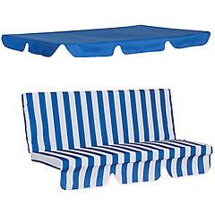 Repuesto cojin y toldo para sillon columpio azul