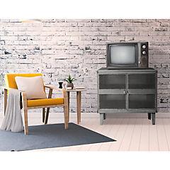 Rack TV lockers industrial 2 cuerpos 2 puertas malla