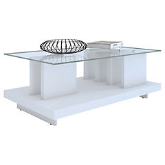 Mesa de centro 90x53,5x33,6 cm blanco