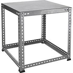 Mesa lateral ranurado industrial 1 bandeja 50x50 cm
