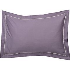 Set de fundas almohadas Lisa 300 hilos uva 50X70 cm