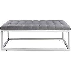Banqueta lino 120x70x45cm  gris