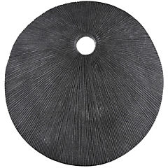 Placa redonda gris 50x6 cm