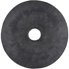 Placa redonda gris 75x5,5 cm