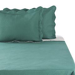 Quilt microfibra verde beige 2 plazas