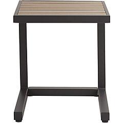 Mesa lateral aluminio gris