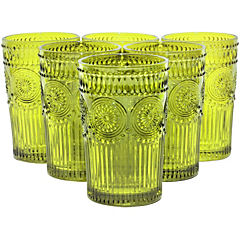 Set vasos6 unidades largo Verde