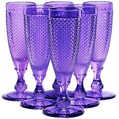 Set 6 Copas Champagne Moradas