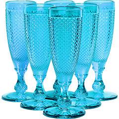 Set 6 Copas Champagne Calipso