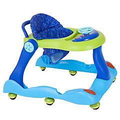 Andador con bandeja azul