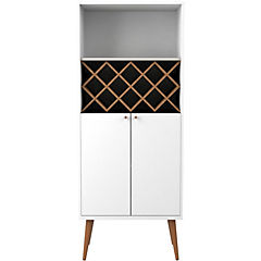 Bar 67x35x167 cm blanco brillo