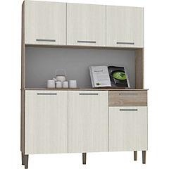 Kit mueble para cocina 170x122x36 cm melamina