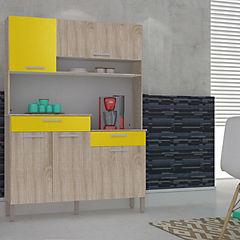Kit mueble para cocina 137x194x39 cm melamina
