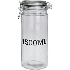 Frasco vidrio 1500 ml 10x25 cm