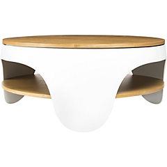 Mesa de centro polipropileno madera taranta blanco