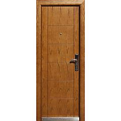 Puerta de seguridad madera derecha 86x205 cm