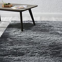 Alfombra shaggy gris 160x230 cm