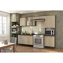 Parana Kit muebles de cocina 220x201x36 cm melamina Blanco ...