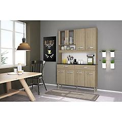 Kit mueble cocina 122x184x36 cm Roble