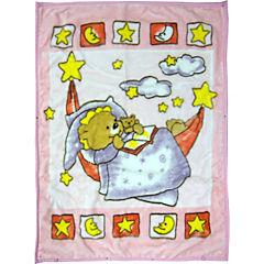 Frazada reversible Oso rosado 140x110 cm