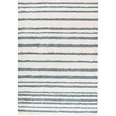 Alfombra Jacinta Líneas Azul 60x120 cm