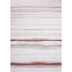 Alfombra Jagger Líneas Roja 160x230 cm