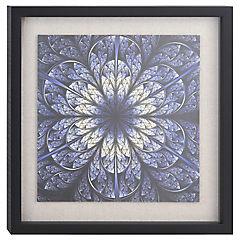 Cuadro enmarcado 55x55cm flor azul