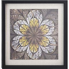 Cuadro enmarcado 55x55cm flor verde