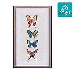 Cuadro enmarcado 84x54 cm mariposas coloridas